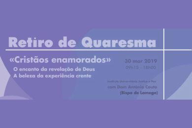 Quaresma: D. António Couto orienta retiro à comunidade académica de Coimbra