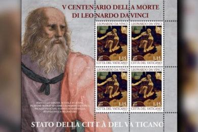 Santa Sé: Emissão filatélica recorda os 500 anos da morte de Leonardo da Vinci
