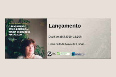 Publicações: Lançamento da obra «O Pensamento Ético-Político de Maria de Lourdes Pintasilgo»