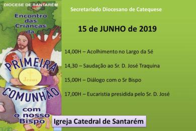 Santarém: Encontro do bispo com crianças da primeira comunhão
