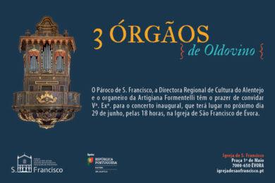 Igreja/Música: Concerto com os 3 órgãos históricos da Igreja de São Francisco