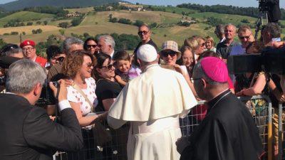 Vaticano: Papa Francisco visita cidade italiana atingida por sismos em 2016