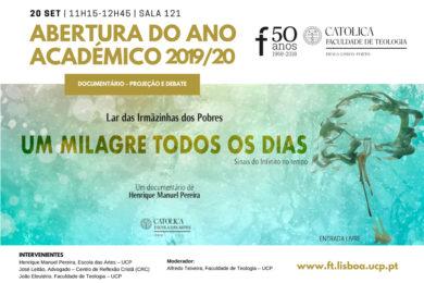 UCP: Filme «Um Milagre todos os Dias» abre o ano académico na Faculdade de Teologia